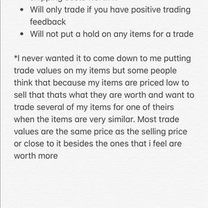 Other - Trading Information
